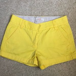 Jcrew Yellow Chino Shorts